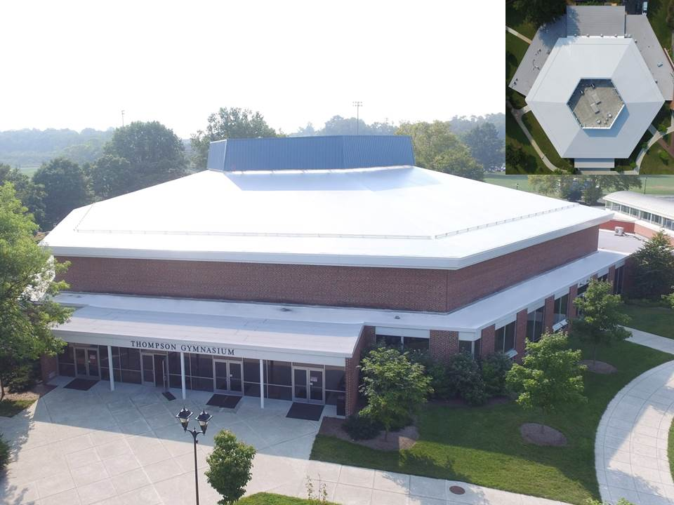 Thompson Hall, Elizabethtown PA, PVC Roof