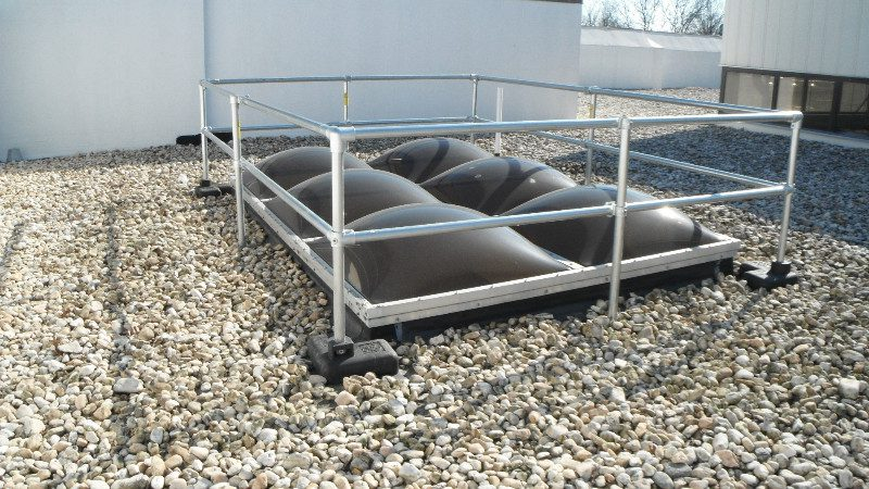 Safety Railings Roof Safety Railings Gsm Roofing