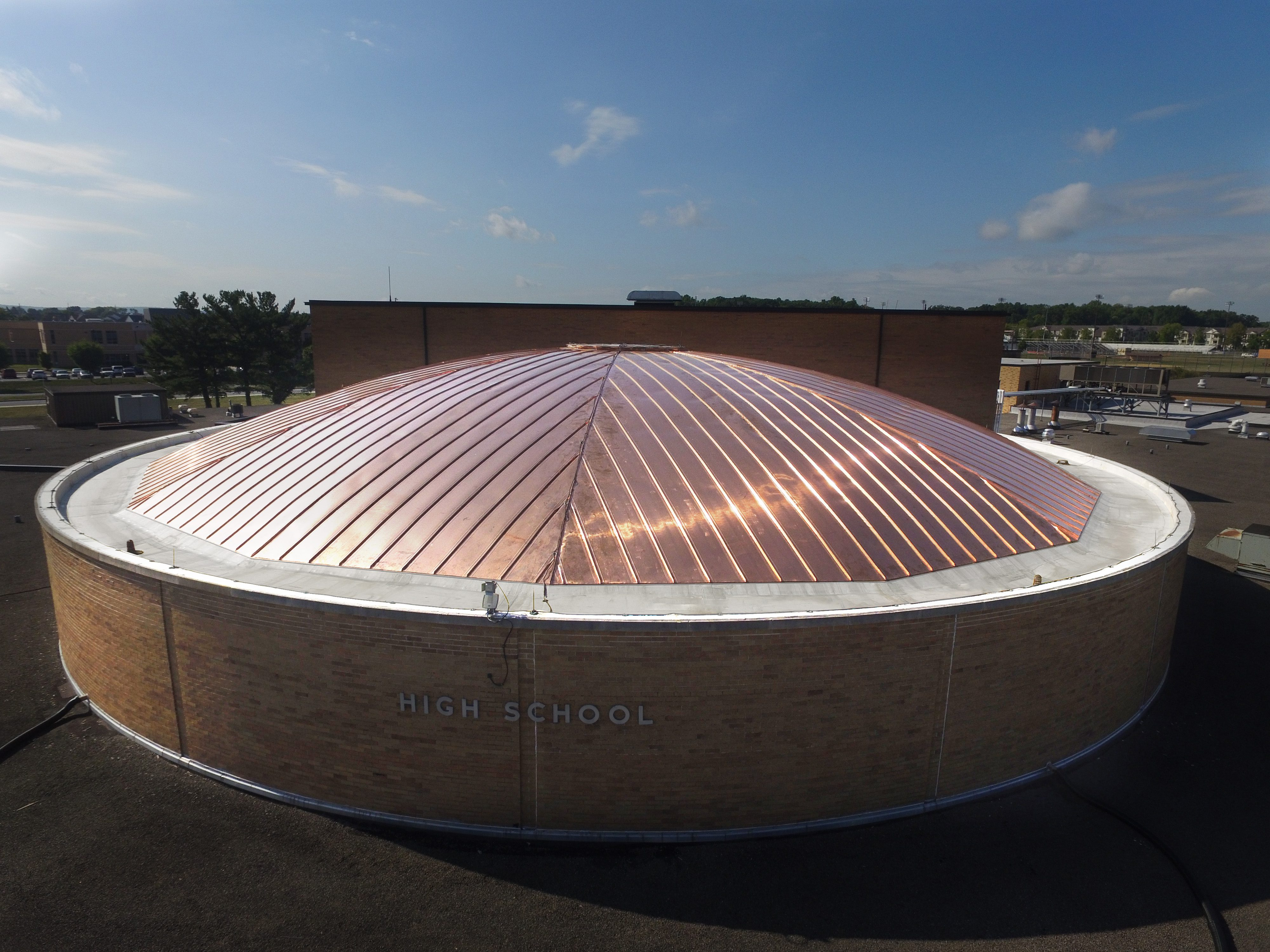 High School Auditorium Dome Roof Gsm Roofing