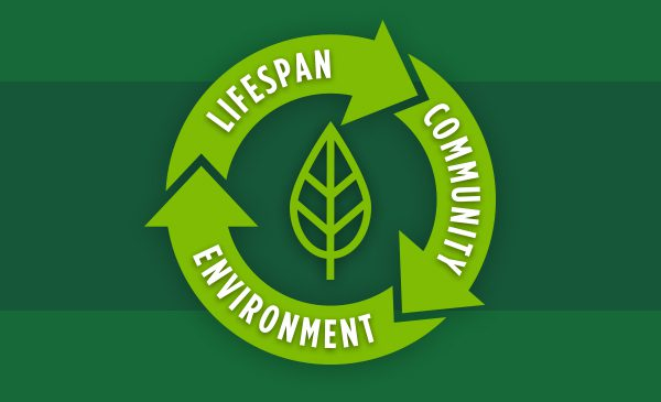 Lifespan Community Environment with Green Leaf